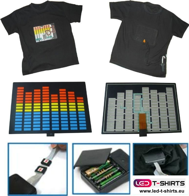 LED t-shirt how it works