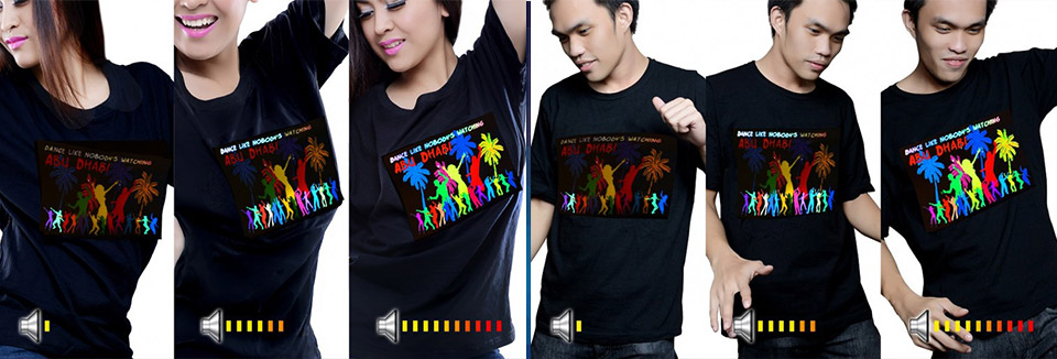 Custom light up LED T Shirts with your design | Order